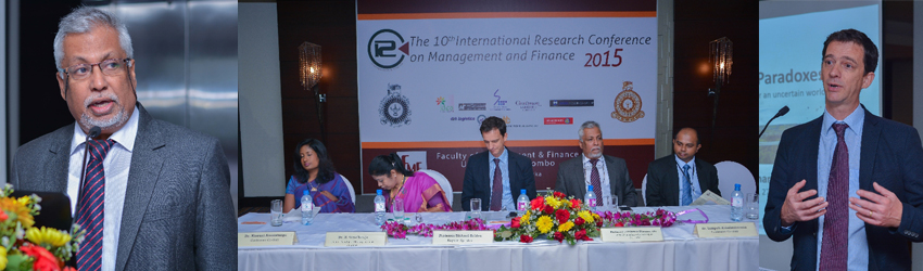10th International Research Conference 2015 – Faculty of Management & Finance