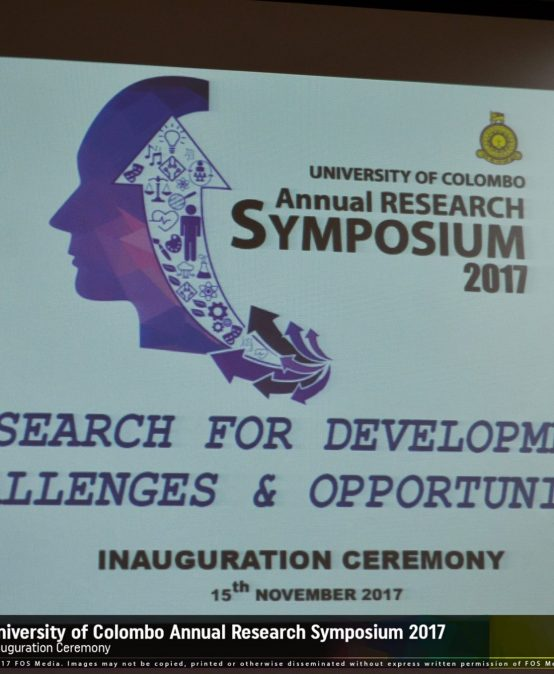 University of Colombo Annual Research Symposium 2017