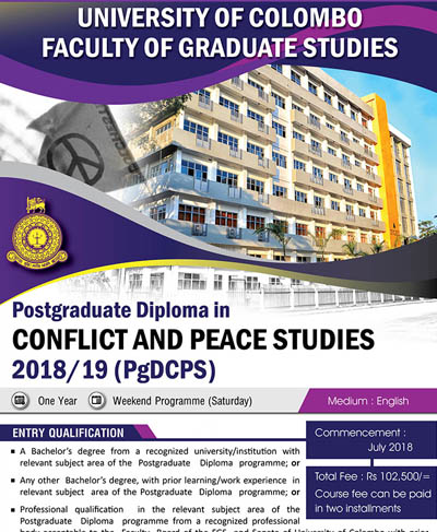 Postgraduate Diploma in Conflict and Peace Studies