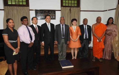 Delegation from Shandong Province, China visited University of Colombo