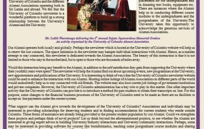 University of Colombo Alumni Associations