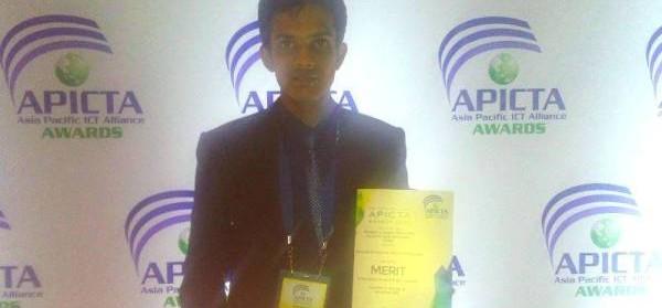 Asiri Wijesinghe won a Merit Award at the Asia Pacific ICT Awards 2015