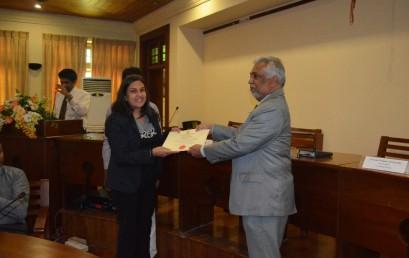 Award Ceremony of Management development programme & MOU signing