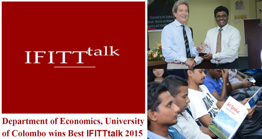 The Department of Economics has won the international Award for the Best IFITT-Talk of the year 2015