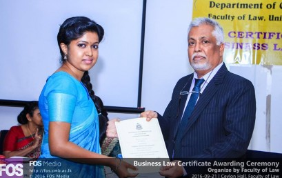 Business Law Certificate Awarding Ceremony