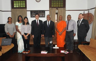 Vice Chancellor of University of Essex visited University of Colombo