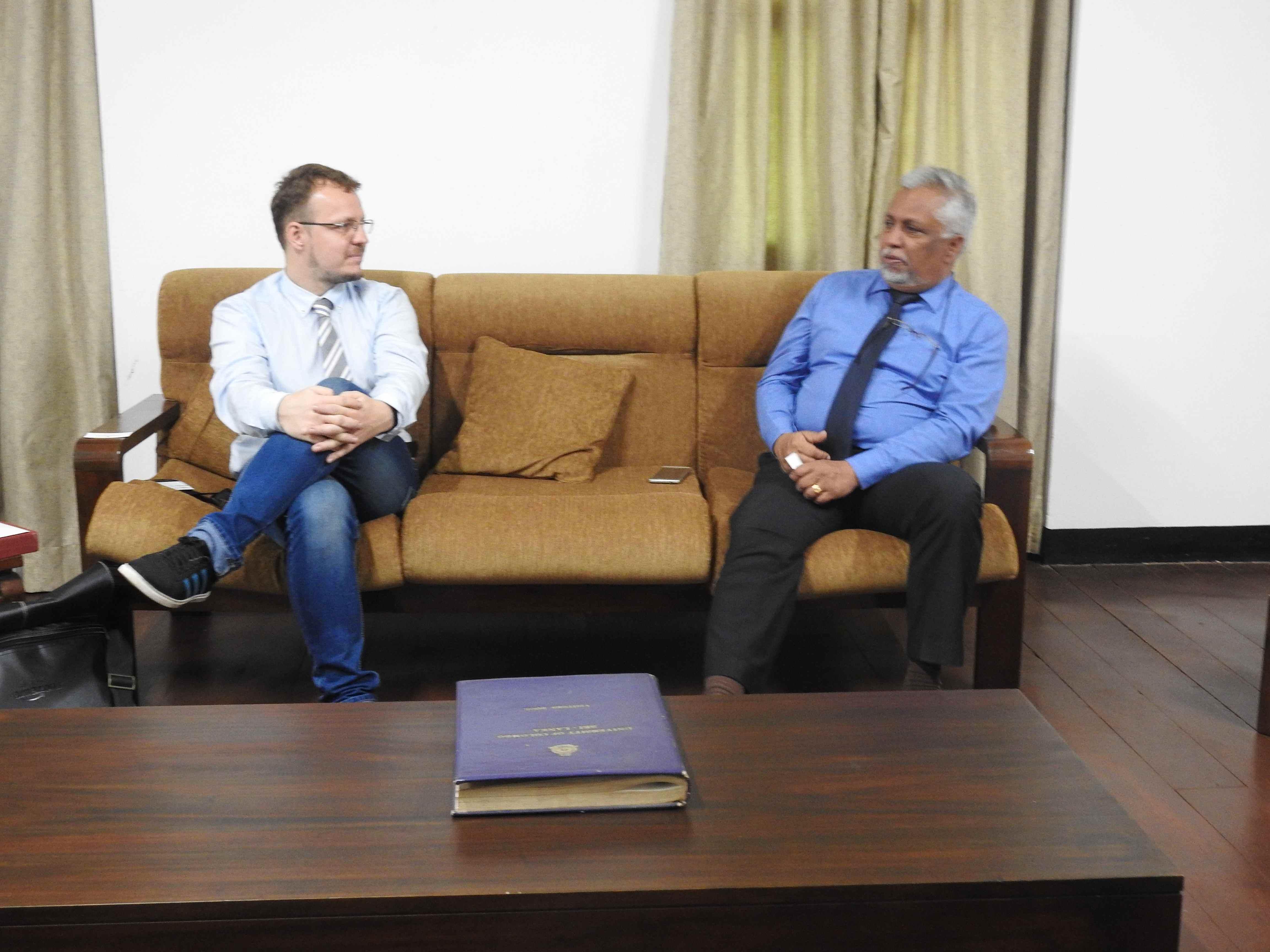 Deputy Director, Polish Institute visited University of Colombo