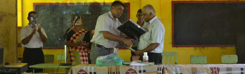 Donating Two Computers to Kudawa Primary School by Colombo University Volunteer Project