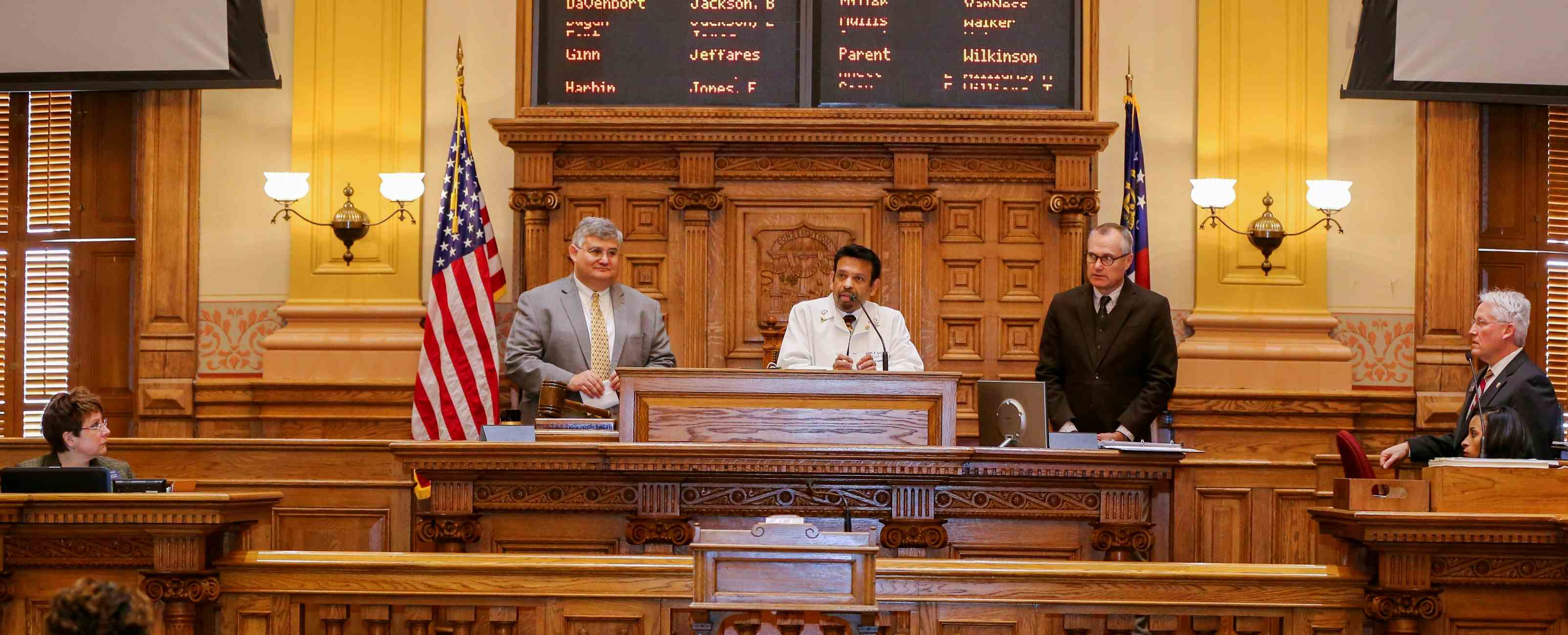 Professor Indran Indrakrishnan honoured by Georgia Senate