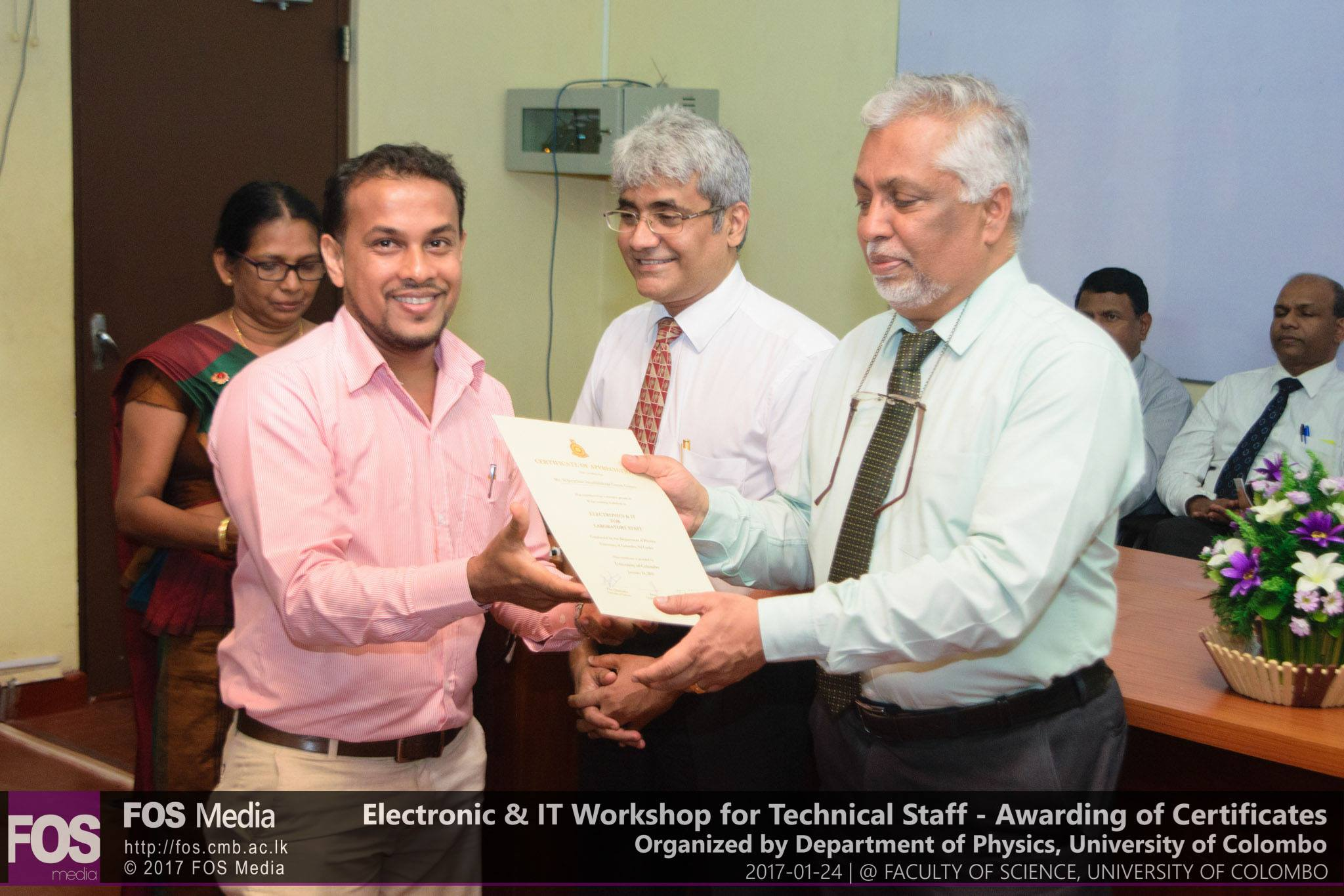 Electronic & IT Workshop – Awarding of Certificates