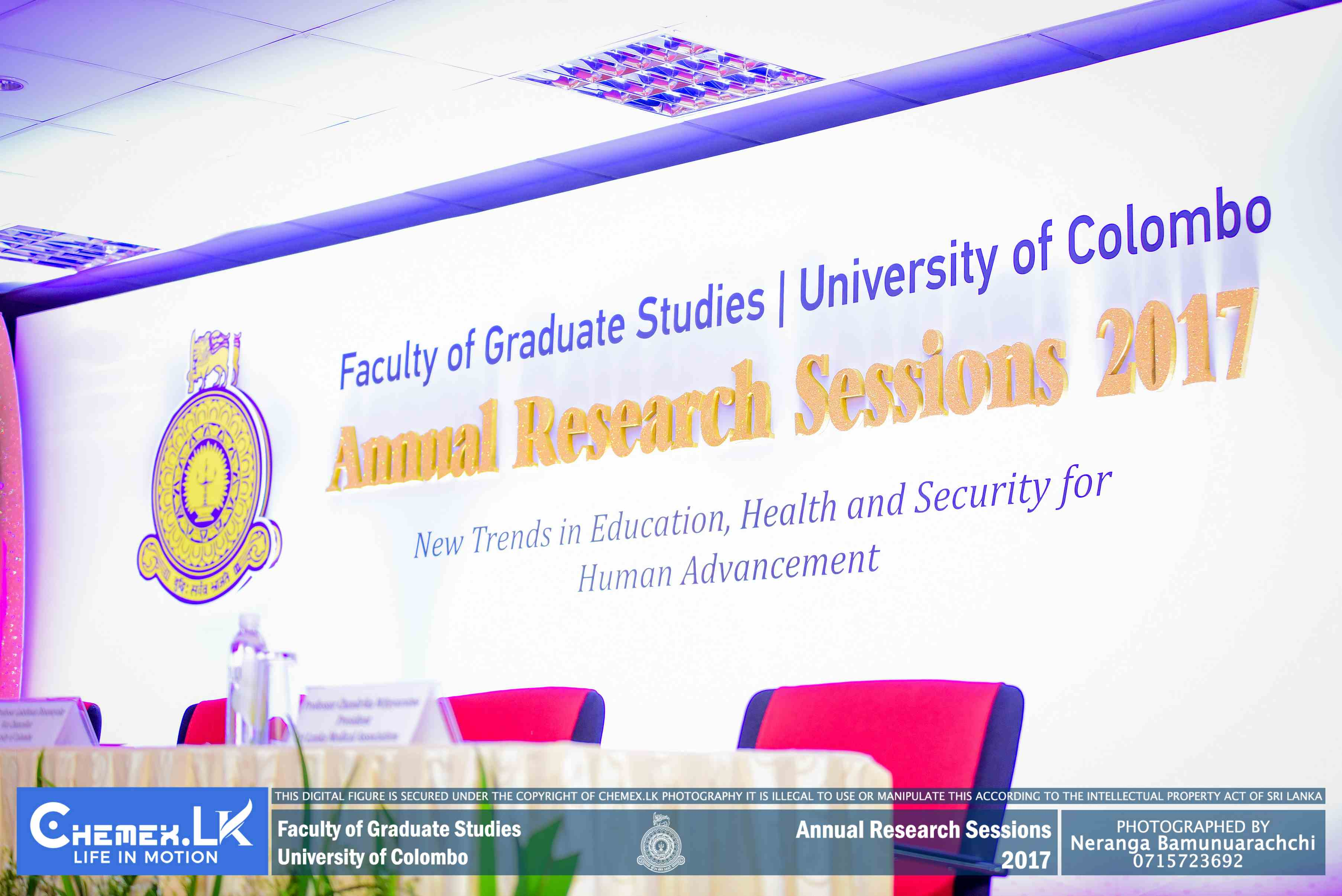Annual Research Session 2017 Faculty of Graduate Studies – University of Colombo