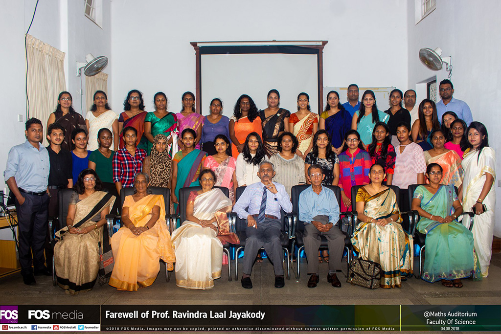 Farewell of Professor Laal Jayakody