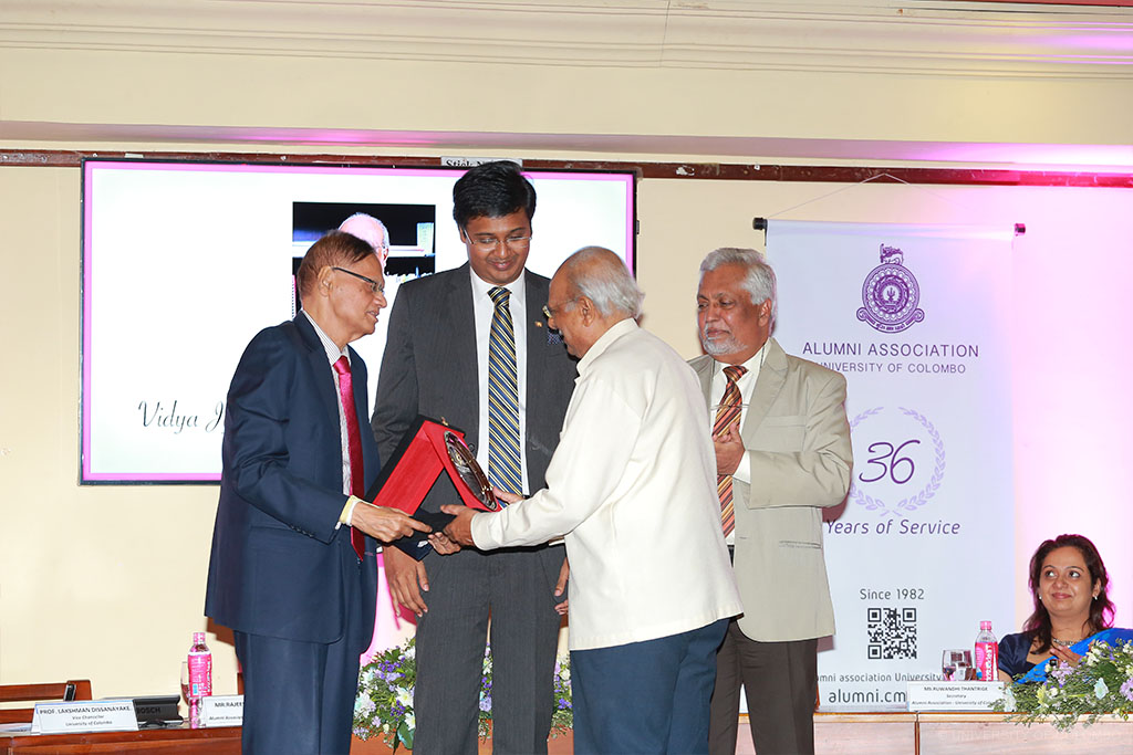 Felicitation of Seven Senior Distinguished Alumni of The University of Colombo