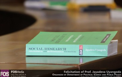 "The felicitation of Professor Jayadeva Uyangoda followed by a panel discussion on his latest publication ""Social Research: Philosophical and Methodological Foundations"""