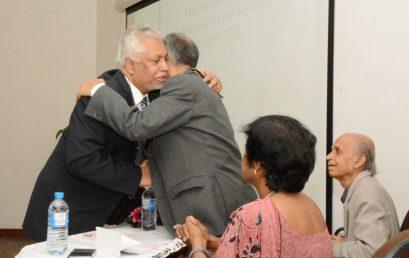 The felicitation ceremony to honor the retirement of Professor Ravindra Laal Jayakody