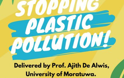 """GREEN TALK """"Stopping Plastic Pollution"""""""