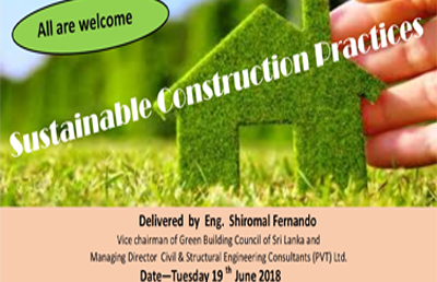 "Green Talk | ""Sustainable Construction Practices"""