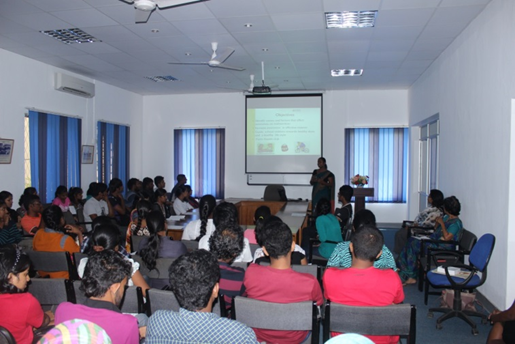 Symposium by undergraduate students on research and group activities