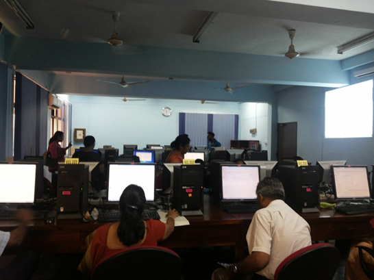 Staff training workshop on use of on-line question bank