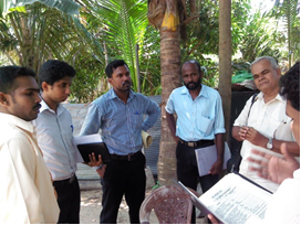 Health team during a population health survey in Ampara