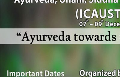 6th International Conference on Ayurveda, Unani, Siddha and Traditional Medicine – ICAUST 2018