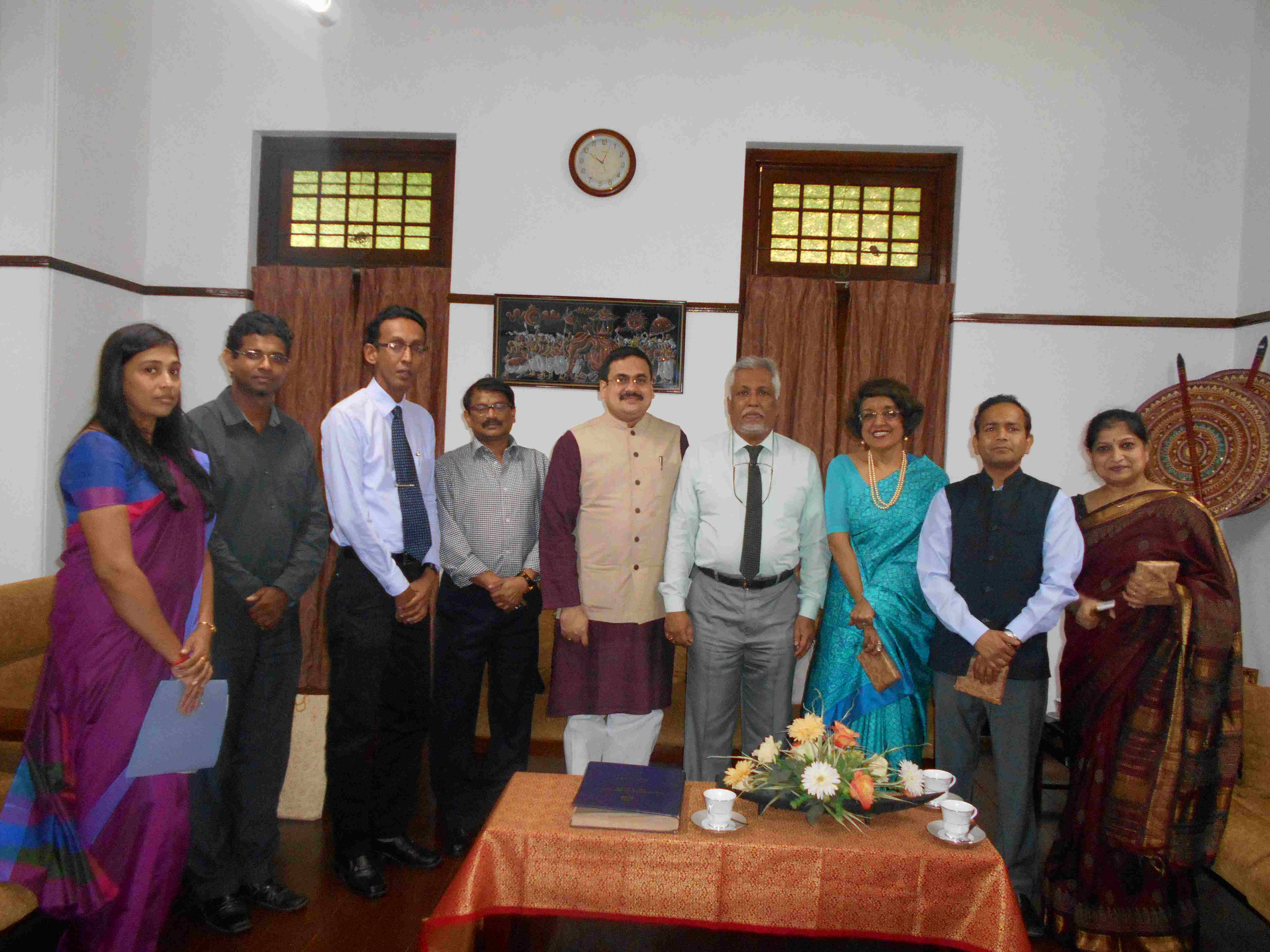 Her Excellency Professor Veena Sirki and ICCR Officials visit University of Colombo