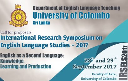 International Research Symposium on English Language Studies – 28th September