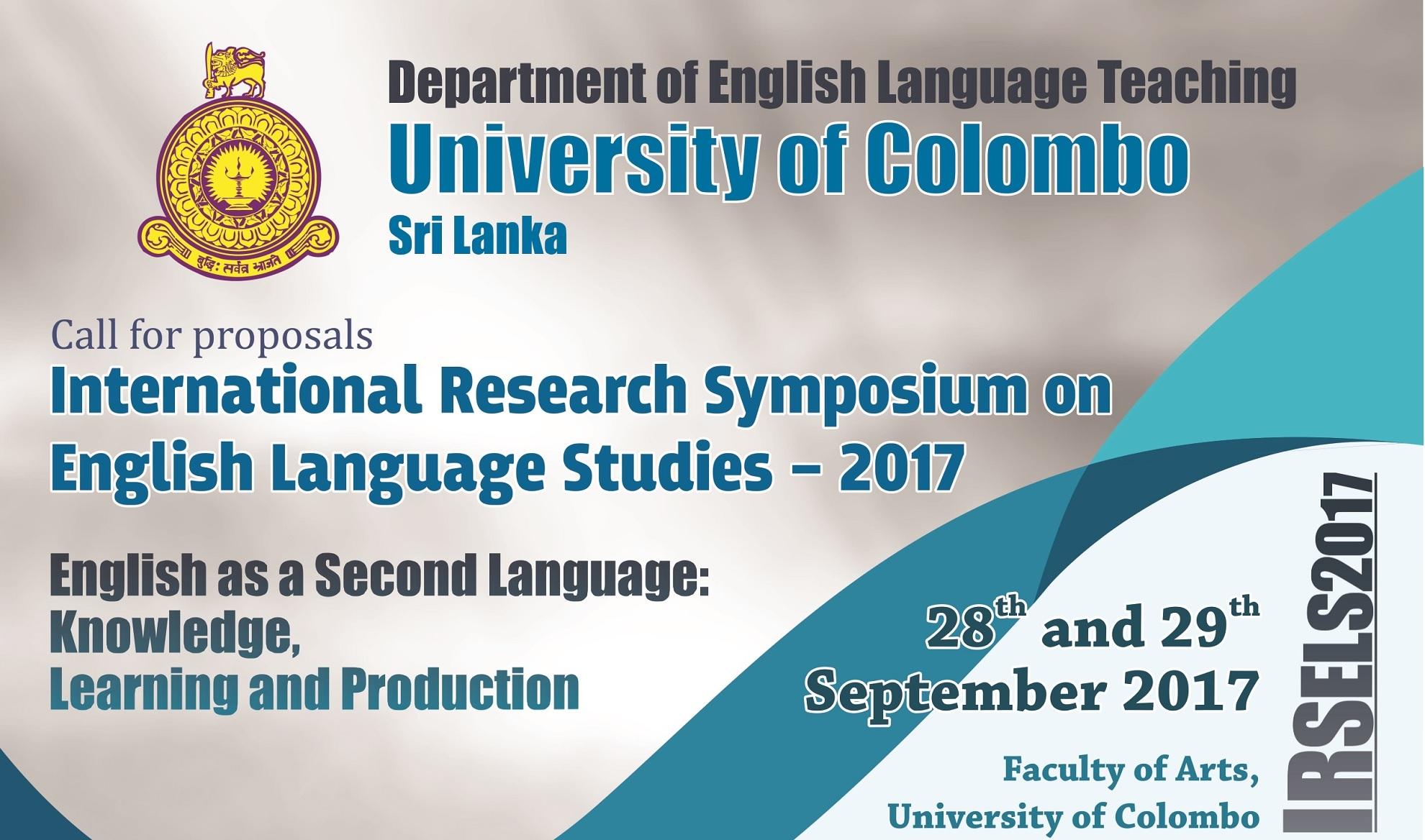 International Research Symposium on English Language Studies – 28th September