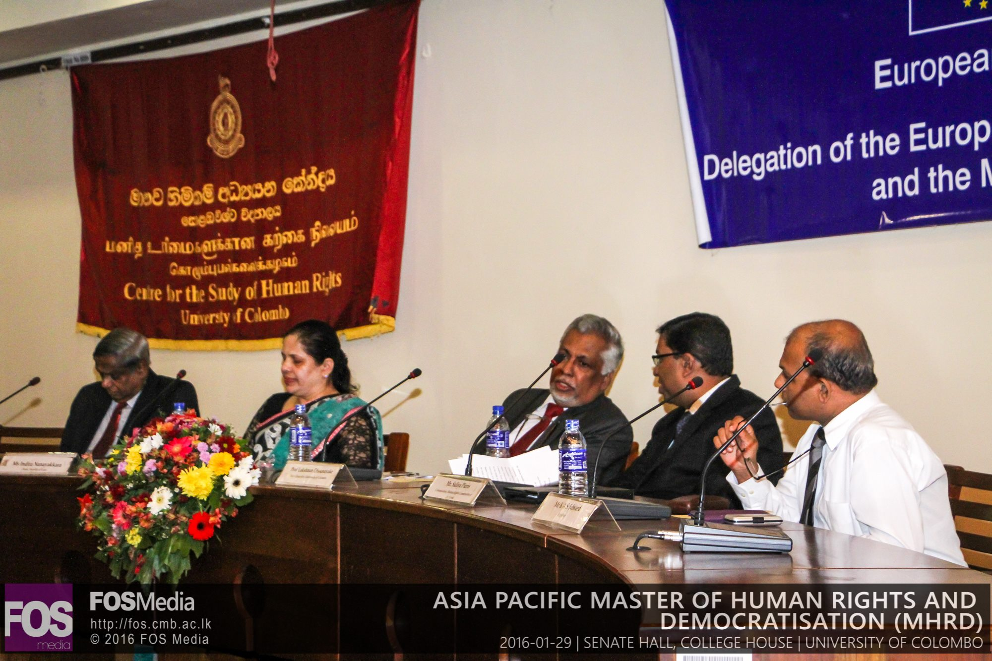 Inauguration of the Asia Pacific Master of Human Rights and Democratisation  Programme