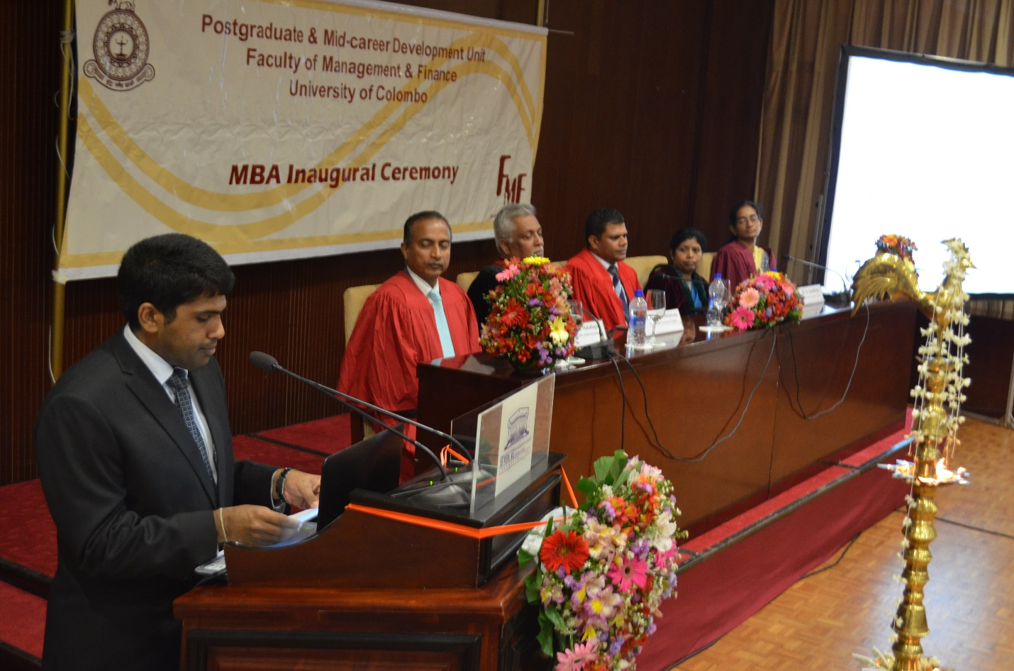 Inauguration of the MBA 2016/2018