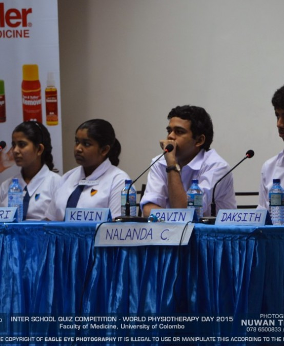 Inter-school Quiz Competition – Celebrating the World Physiotherapy Day 2015