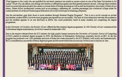 9th convocation: 129 students successfully completed the external degree in 2011