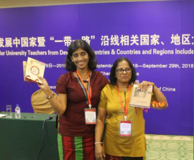 "University of Colombo wins recognition at ""Seminar 2018 for University Lecturers in Changchun, China"""