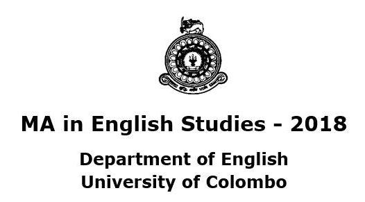 MA in English Studies – 2018