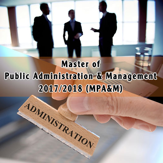 Master of Public Administration & Management  (MPAM)