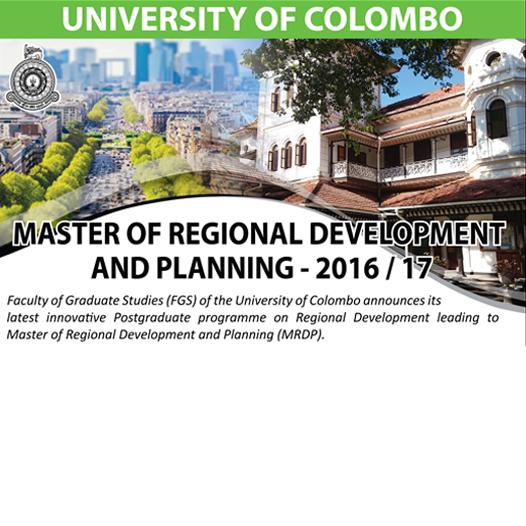 Master of Regional Development and Planning