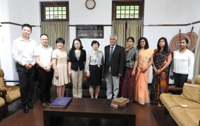 A delegation from National Health and Family Planning Commission, China visited University of Colombo