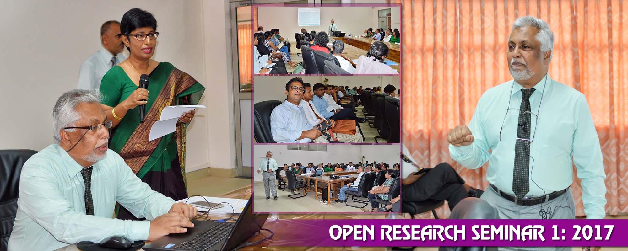 Open Research Seminar