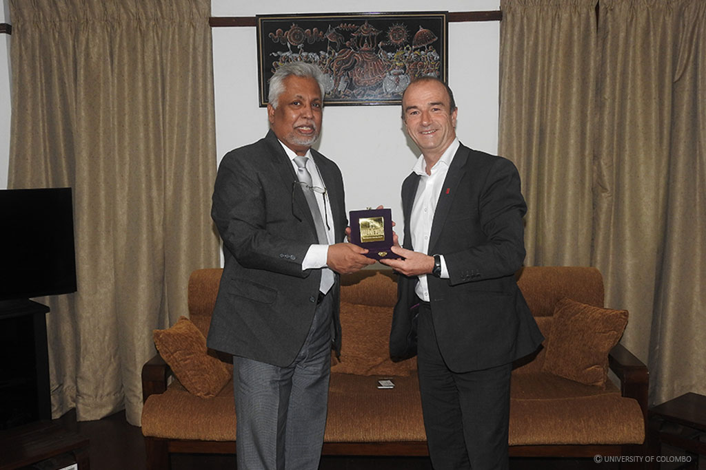 Pro Vice Chancellor of Staffordshire University visited University of Colombo