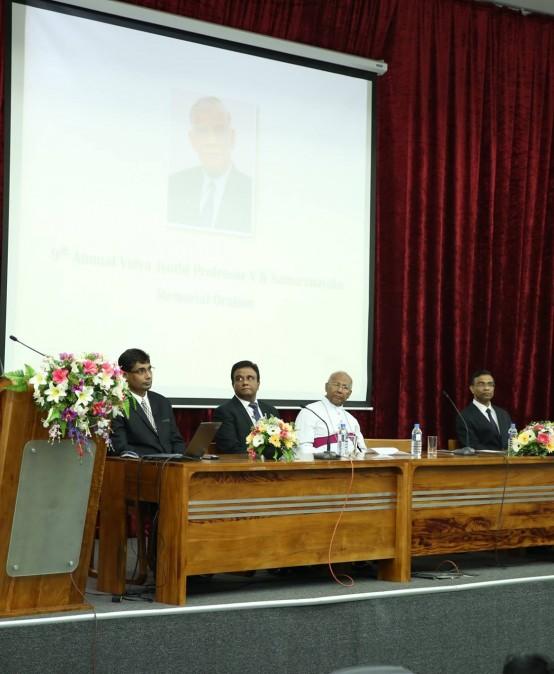 9th Annual Vidya Jyothi Prof. V K Samaranayake Memorial Oration