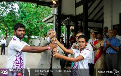SLUG torch reaches University of Colombo
