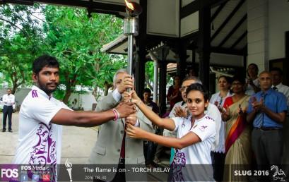 SLUG torch reaches University of Colombo