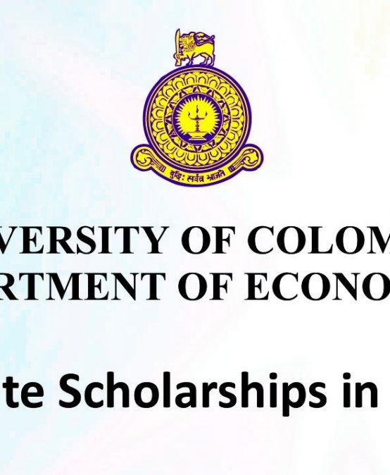Postgraduate Scholarships in Economics – 2018