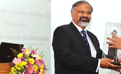 """The """"Valedictory Academic Meeting"""" in honour of Prof. Rohan W. Jayasekara"""