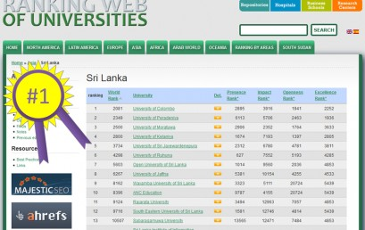 World University Web Ranking – January 2016