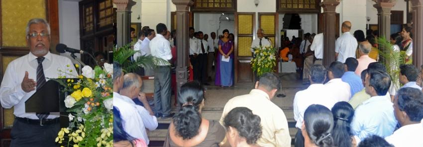 Newly appointed Vice-Chancellor Senior Prof. Lakshman Dissanayake