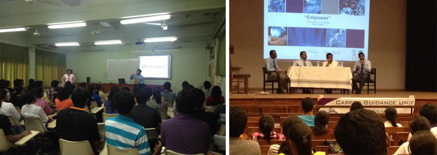 Workshops conducted for the Faculty of Science students under UDG