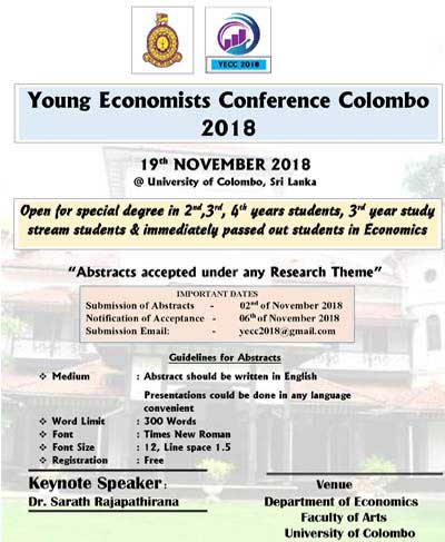 Young Economists Conference Colombo 2018