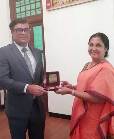 Ambassador of Maldives to Sri Lanka visits University of Colombo