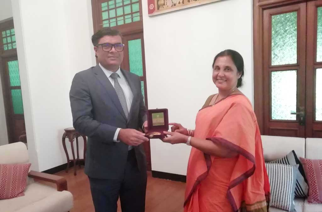 Ambassador of Maldives to Sri Lanka visits University of Colombo